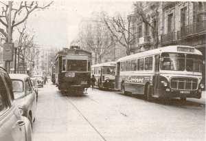 Tranvía calle Aribau